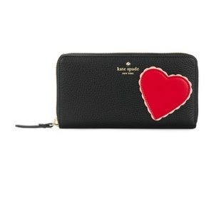 Kate Spade leather heart wallet